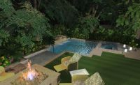 pools for small yards | Small Yard Nice Corner Pool ...