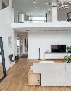 Elegante sala de doble altura scandinavian interior designopen planhouse also normilla is in da jaus pinterest rh