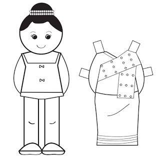 การ์ตูนระบายสีอาเซียน ตัดแต่งตัวการ์ตูน Cut cartoon Baby