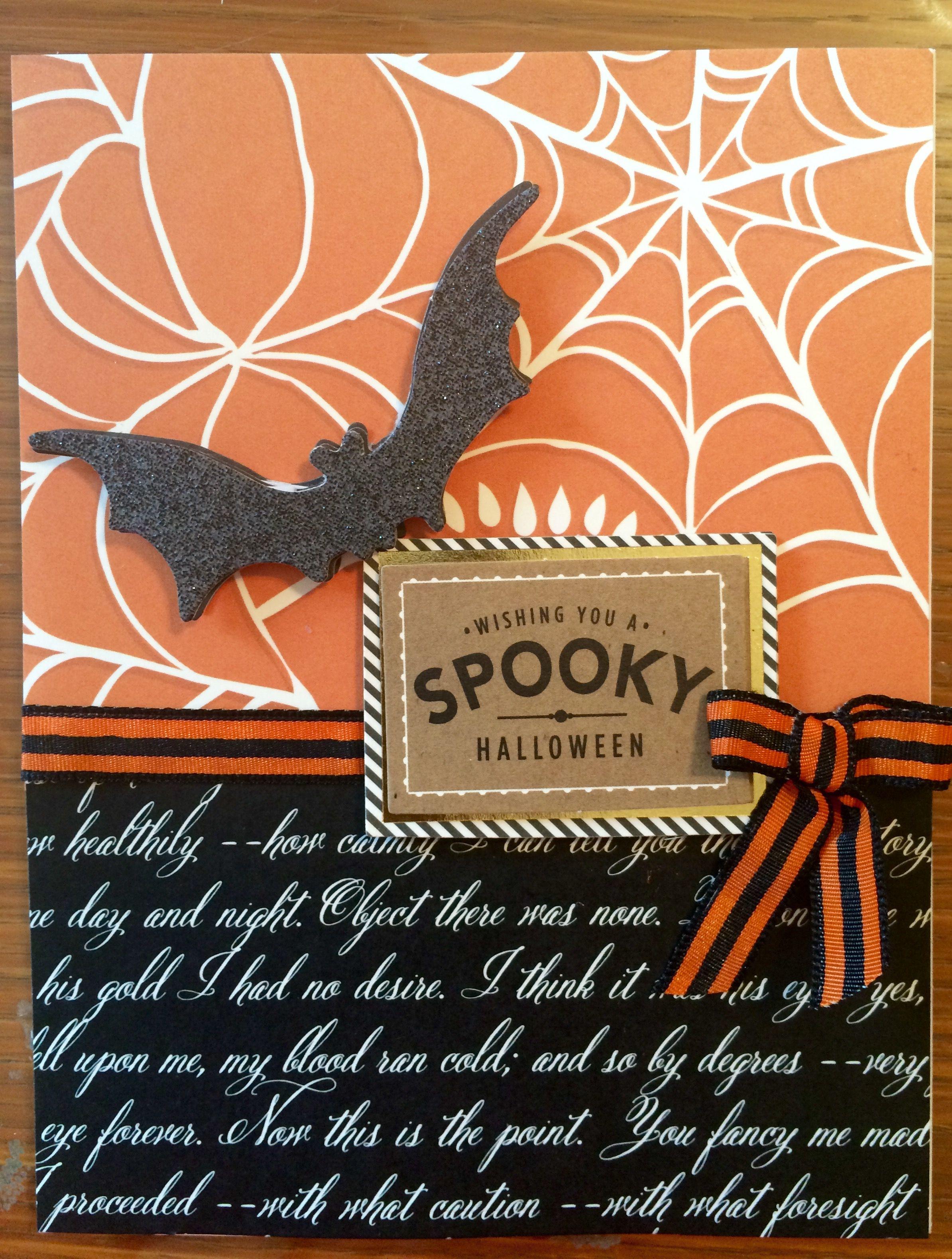 Halloween Iii, Halloween Cards, Happy Halloween, Halloween Ideas, Anna  Griffin Cards, Thanksgiving Cards, Paper Crafting, Cardmaking, Card Ideas