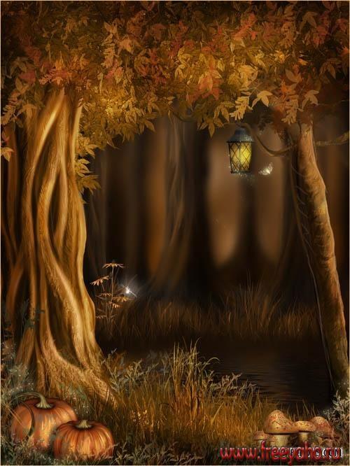 Pumpkins And Fall Leaves Wallpaper Autumn Fairy Backgrounds фоны от Jaguarwoman Fairy