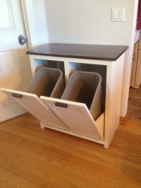 A tilt-out garbage and recycling cabinet. | People, Number ...