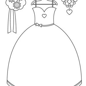 Cute Dress for Little Girl Coloring Page: Cute Dress for