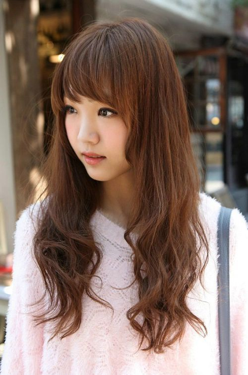 Asian Hairstyles For Long Hair With Bangs Long Bangs Hairstyles