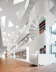 Kaan architecten adds study centre to  rotterdam hospital library architectureschool architecturearchitecture interior also rh pinterest