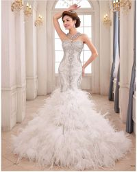 mermaid wedding dresses with feathers - Google Search ...