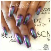 #chrome nails cute design