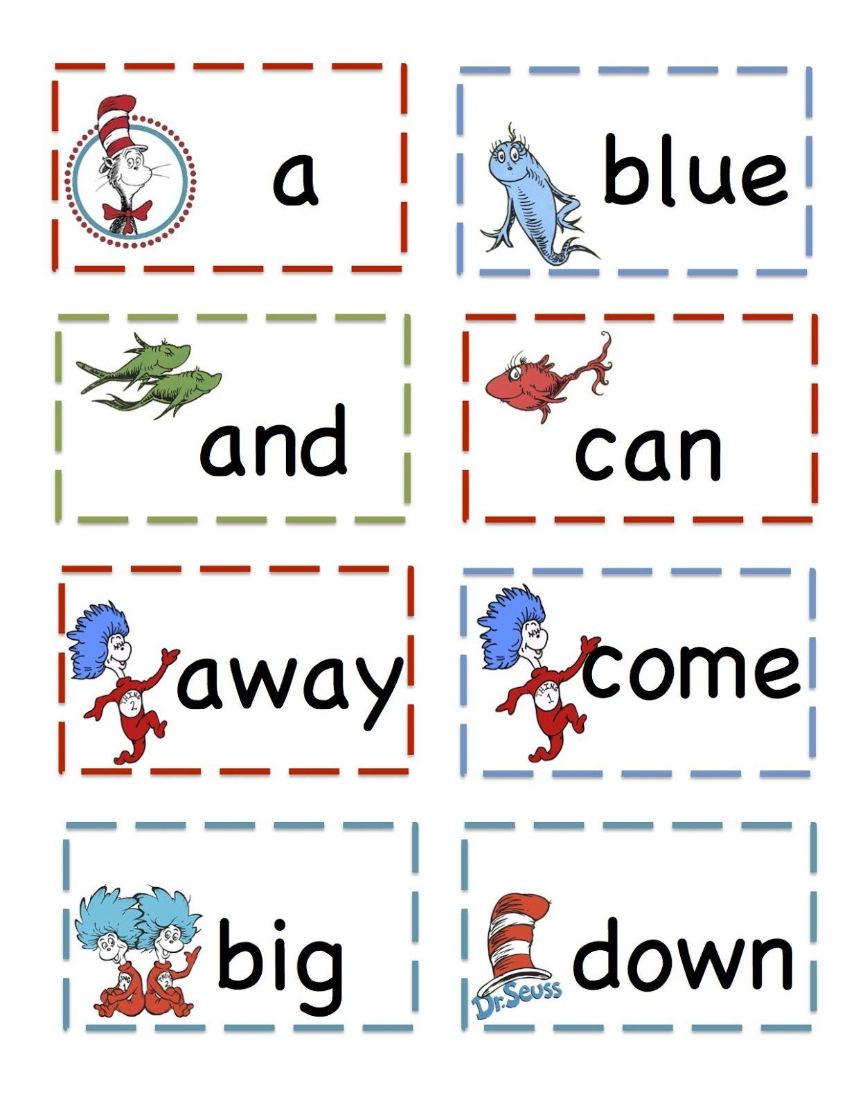 Preschool Printables That Cat Pre Primer Sight Vocabulary Cards