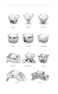 diamond setting types