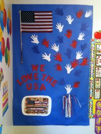 Patriotic Bulletin Board | school ideas | Pinterest ...