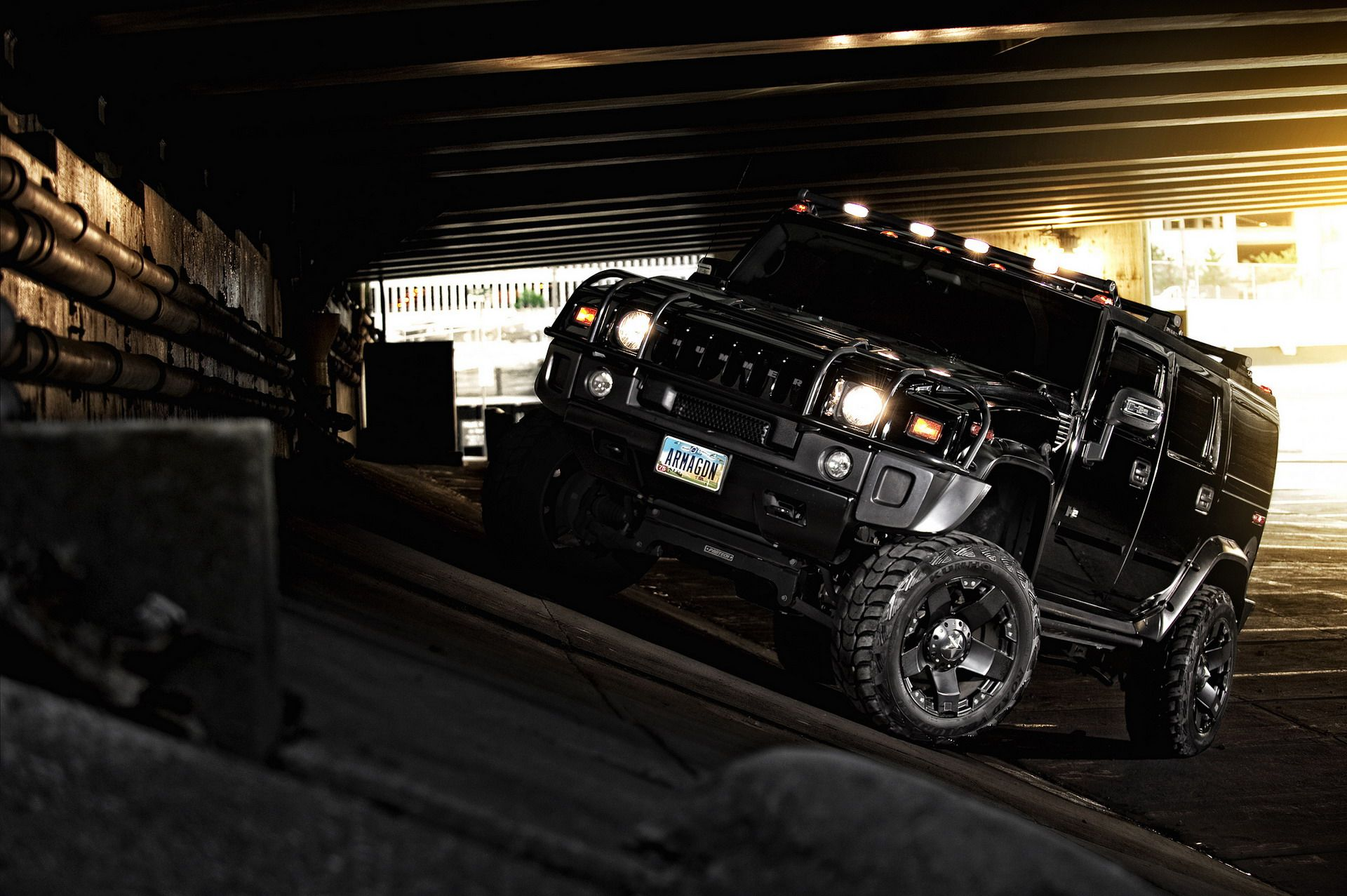 Hummer H2 Black f Road Hummer Black Suv Vroom
