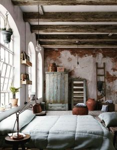 We  ll talk about rustic bedrooms and how to design your own this room is  great example of the upcycled furniture trend in interiors also week rh za pinterest