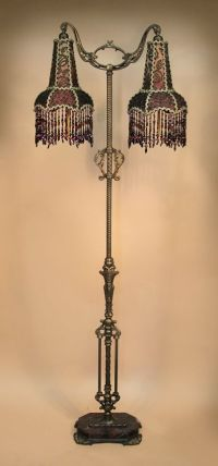Antique Floor Lamp with one-of-a-kind victorian-style lamp ...