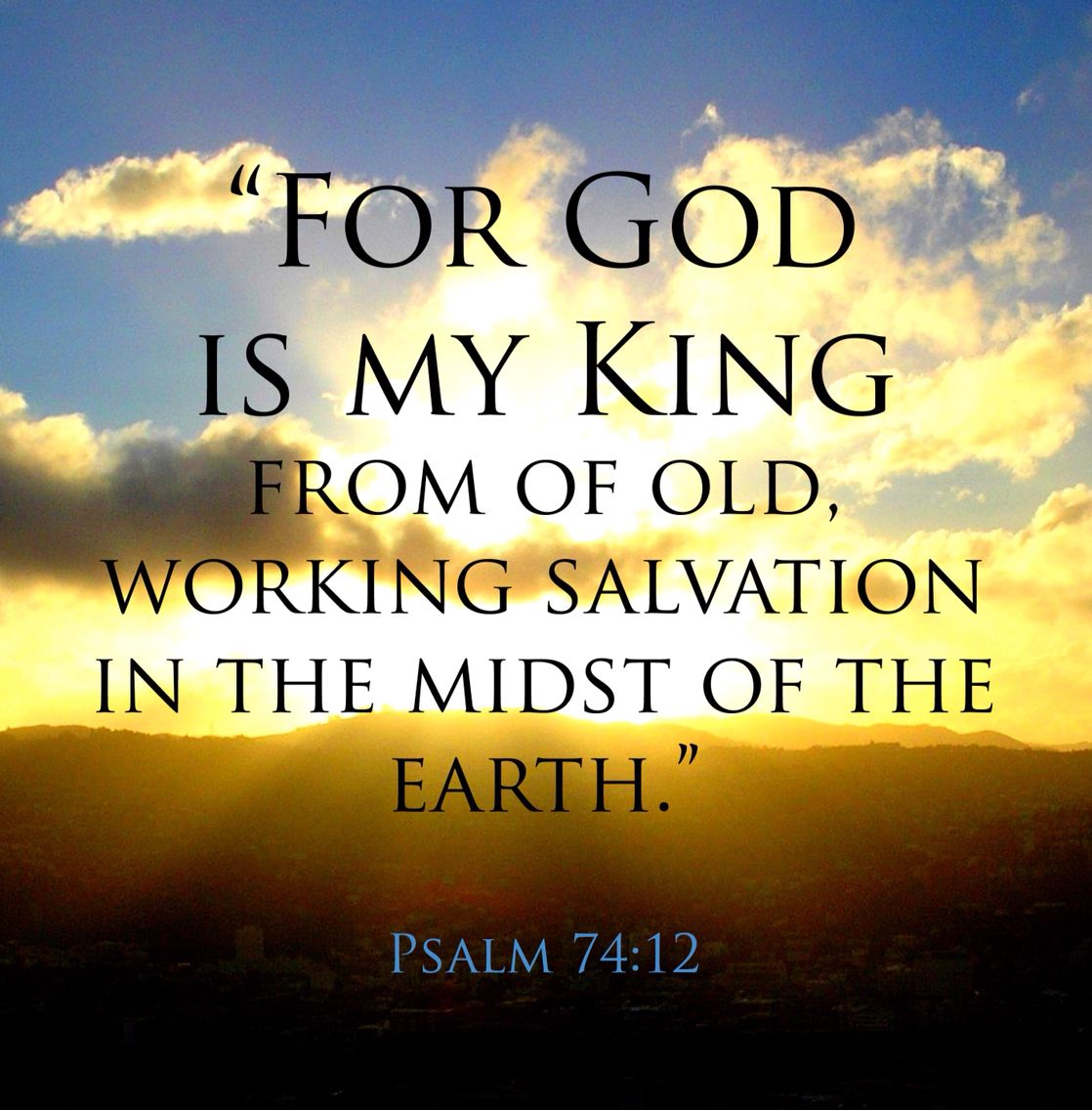 Image result for Psalm 74:12