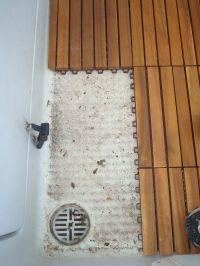 DIY Teak Tile Flooring: Teak tiles refresh a tired old