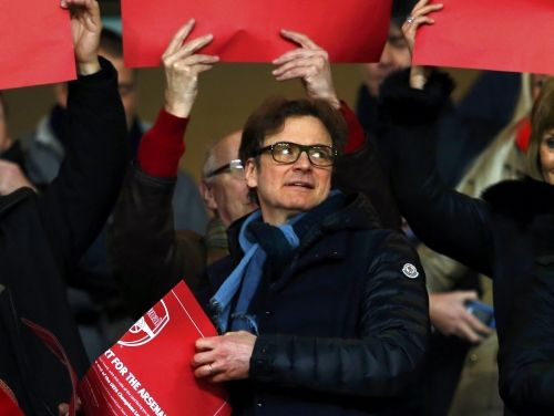 Image result for colin firth arsenal