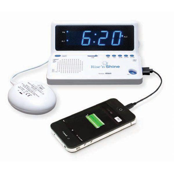 alarm clock for deaf and blind unique alarm clock. Black Bedroom Furniture Sets. Home Design Ideas