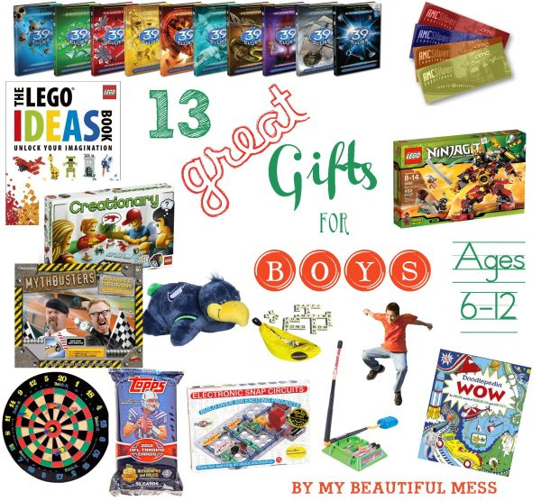 13 Great Gift Ideas for Grade School Aged Boys ages 612