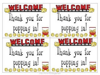 Thanks For Popping In Open House Popcorn And School