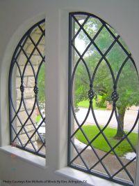 Faux Wrought Iron Double Window Treatment. | Wrought iron ...