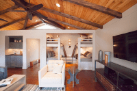 Lucy and Company - living rooms - vaulted ceilings, rustic ...
