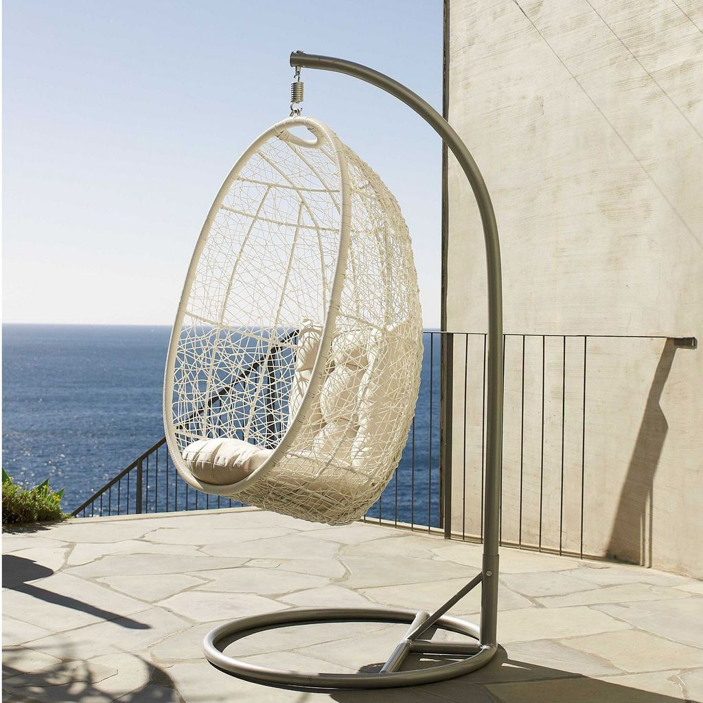 indoor hanging egg swing chair redo kitchen table and chairs all things beach for the home