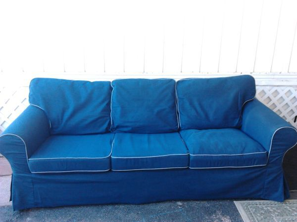 washing ikea chair covers french bedroom nz navy blue/denim ektorp sofa cover, in excellent condition | living room ideas pinterest ...