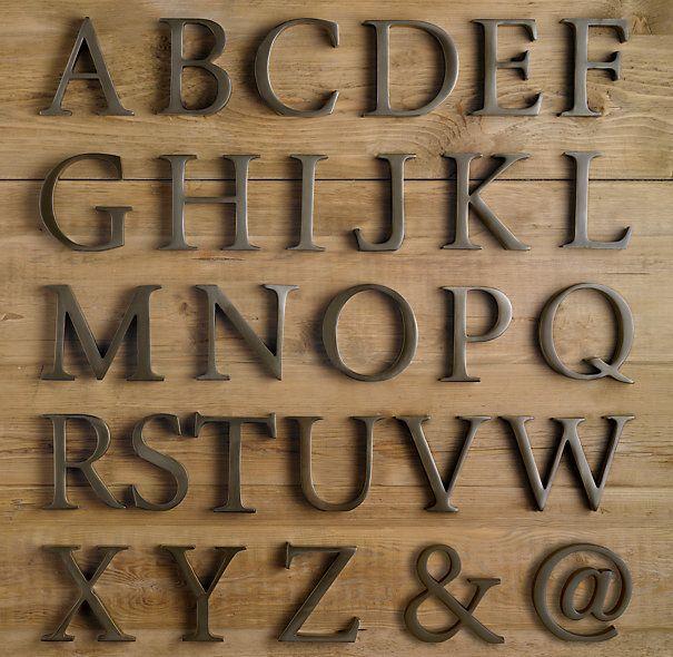 Cast Metal Letter Objects Monogram Pinterest Be Cool Metal