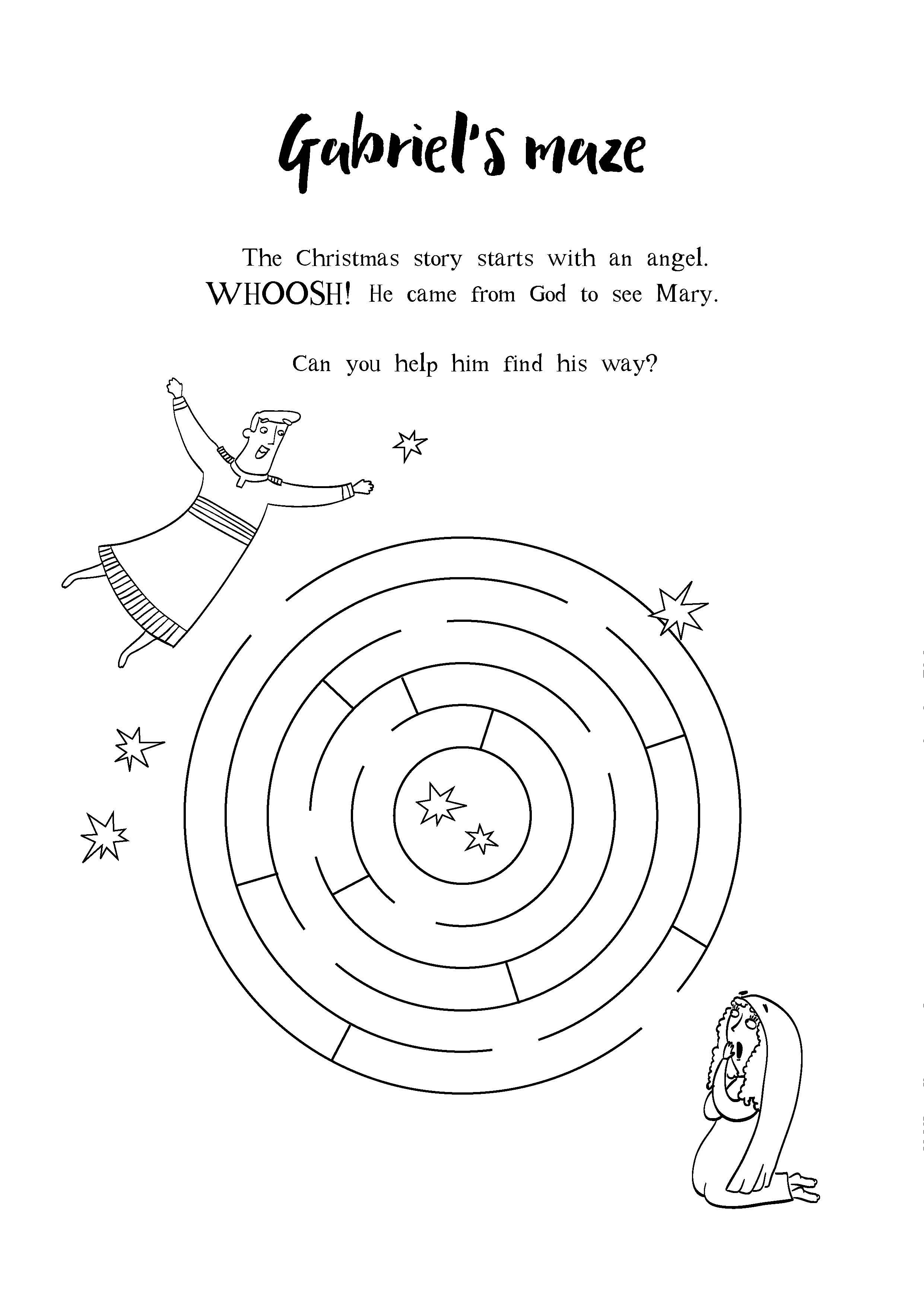Gabriel's Maze. The Christmas story starts with an angel