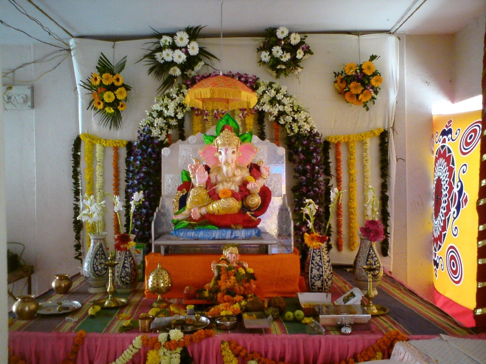 Best Kitchen Gallery: Ganpati Pandal Decoration Lord Ganesha Pinterest Decoration of Hindu Altar At Home on rachelxblog.com