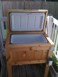 Deck Cooler on Pinterest | Wooden Ice Chest, Patio Cooler ...