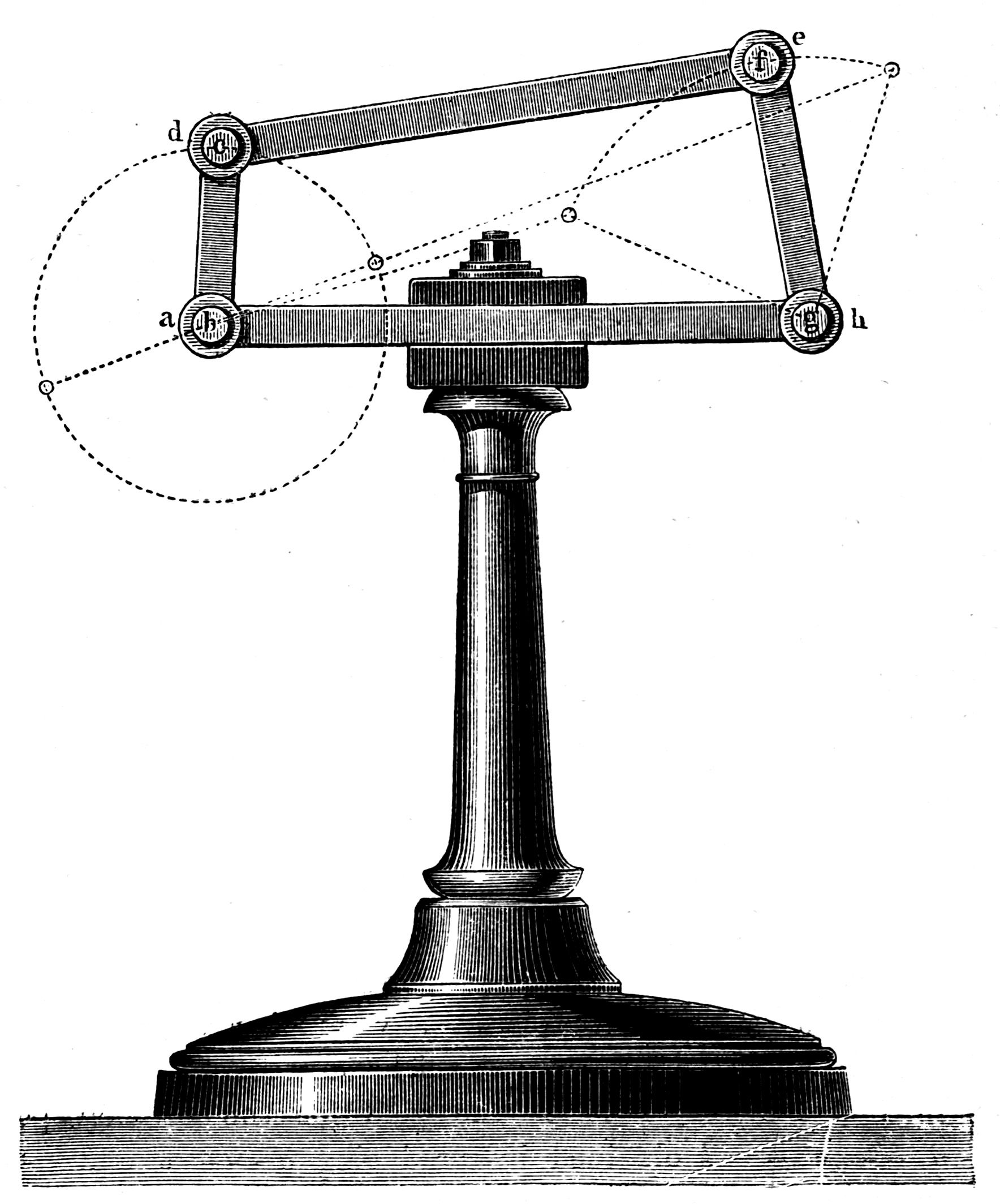 Figure 21. Illustration of a four-bar linkage from
