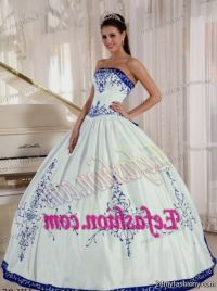 Blue And White Quinceanera Dresses | www.pixshark.com ...