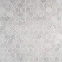 MS International Carrara White Hexagon 12 in. x 12 in. x ...