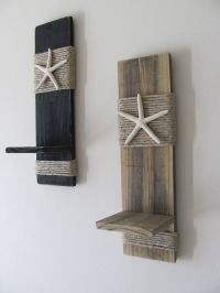 Reclaimed Upcycled Wood Plank Starfish Sconces - Wall ...