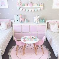 adorable girl's bedroom ideas! pink and gray and neutrals ...