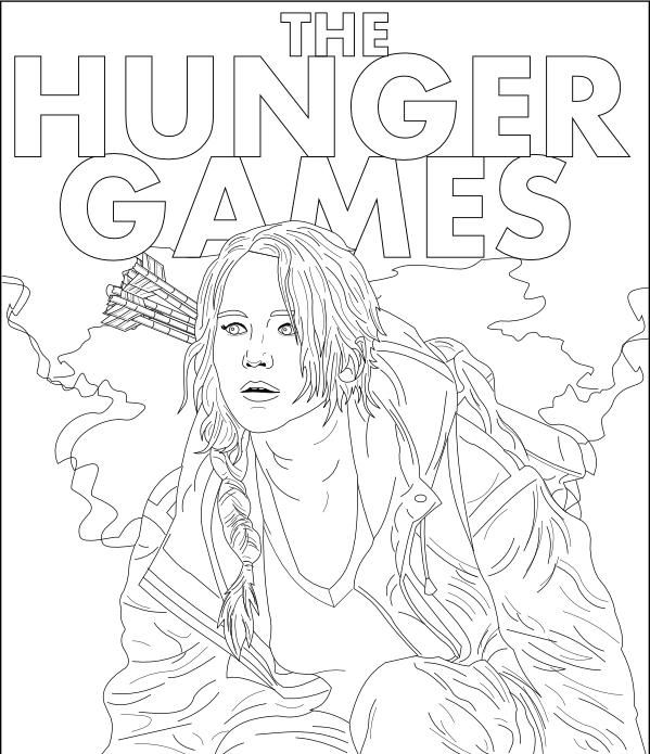 Pin by Nathalie Monio on Coloriage HUNGER GAMES