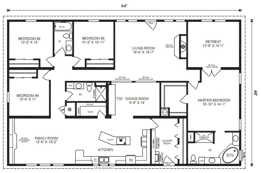 40e72991355dc505d7a8db04b5816f05 resize 665 2C441 ssl 1 5 bedroom  manufactured home floor plans bedroom  5 Bedroom. 5 Bedroom Manufactured Homes Floor Plans   Descargas Mundiales com