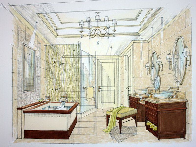 Master Bathroom Layouts Plans Ideas