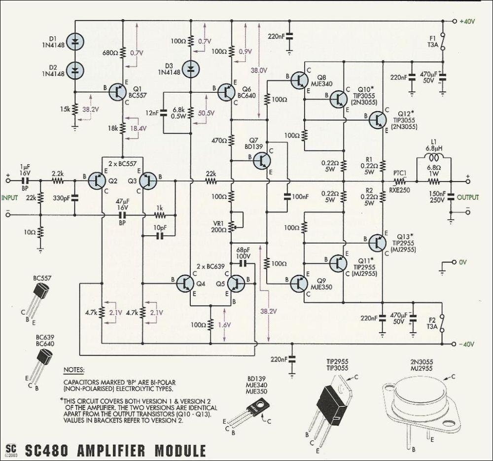 medium resolution of 2n3055 mj2955 amplifier circuit circuit diagram 50w 70w power amplifier with 2n3055 mj2955 2n3055