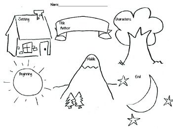 Cute, simple graphic organizer for story explaination and