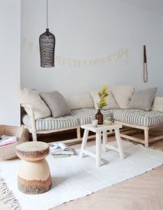 Beautiful home interior design of irene martens the owner sukha shop in amsterdam featuring natural materials woven cotton rugs thick knits and more also simple is living room ideas pinterest rh