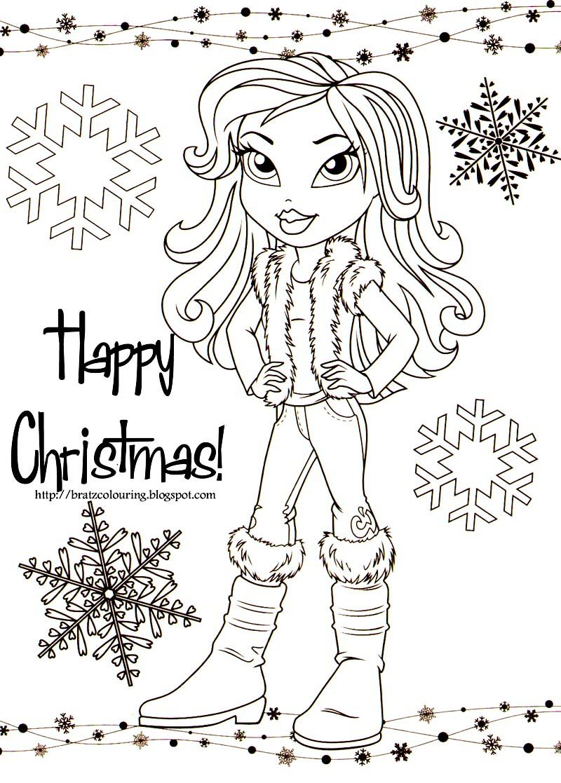 Bratz Colouring Page Coloring Christmas For All