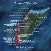 Snorkeling Cozumel Mexico Map
