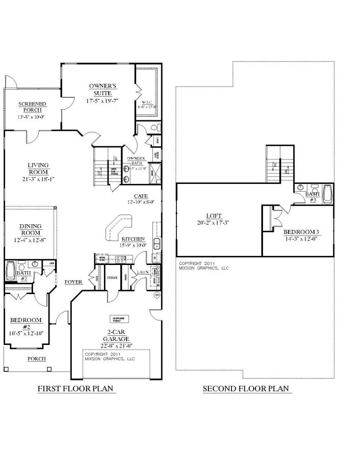 House Plan 2755 Woodbridge Floor Traditional With 3 Bedrooms And Full Baths Large Open Living Area Master Suite Second Bedroom