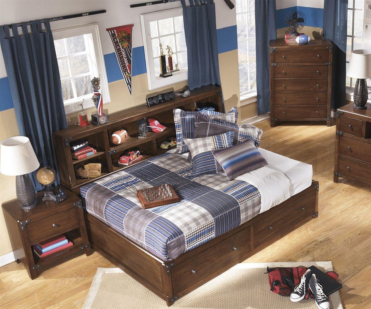 Delburne Full Size Storage Bed  B362 Ashley Kids