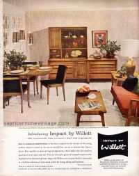 1957 Impact by Willett Furniture Magazine Ad Mid Century ...