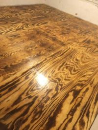 Plywood burned with a torch then add polyurethane. | Home ...