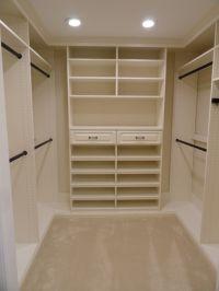small u shaped walk in closet design | Home Decor