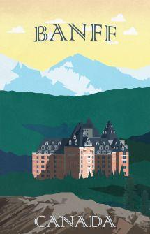 Vintage Travel Banff Canada